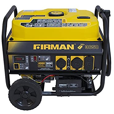 Firman P03608 4550/3650 Watt Gas Remote Start Generator, CARB, Yellow