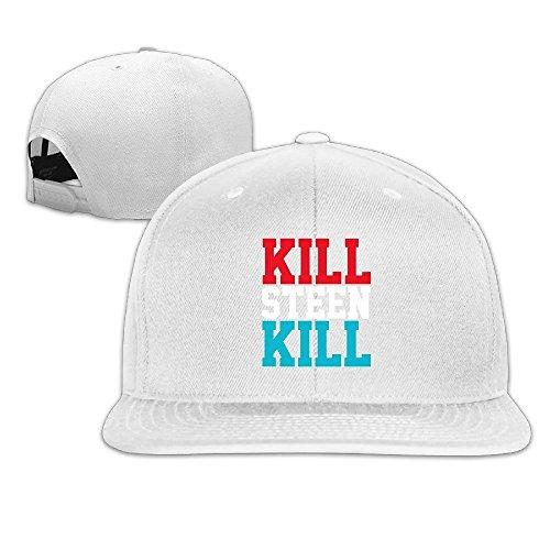 [Runy Custom Kill Steen Kill Adjustable Baseball Hat & Cap White] (Ylvis Fox Costume)