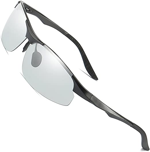 Men Day Night Driving Anti-Glare Sunglasses Polarized Photochromic UV400 Eyewear
