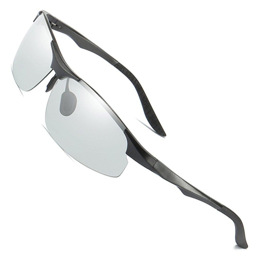 5fe5fb8d2f Amazon.com  MOTELAN Day Night Photochromic Polarized Sunglasses Men s  Sunglasses for Drivers Male Safety Driving Fishing UV400 Glasses Black   Clothing