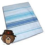 RussianBear Cotton Sheet for Russian Sauna Banya Bath House ''Blue - light blue'' (160-220 cm)