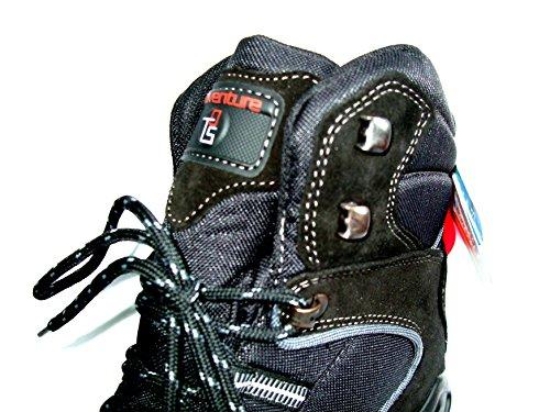 Turm-Schuh Herren Stiefel 92339, schwarz, ComforTEX + Spikes, warm gefüttert!