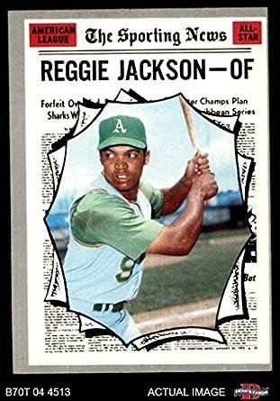 Amazoncom 1970 Topps 459 All Star Reggie Jackson Oakland