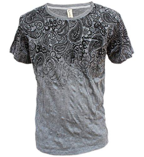Yoga Shirts - Omtimistic Men's Hindu 'Patterns & Om Symbol' T-Shirt – Large (Gangster Outfits For Men)
