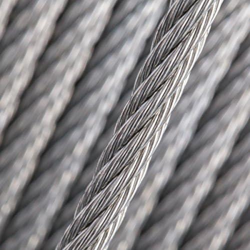 Seilwerk STANKE 80m Drahtseil 10mm 6x37 verzinkt Stahlseil Forstseil Windenseil DIN Seil Draht Stahl