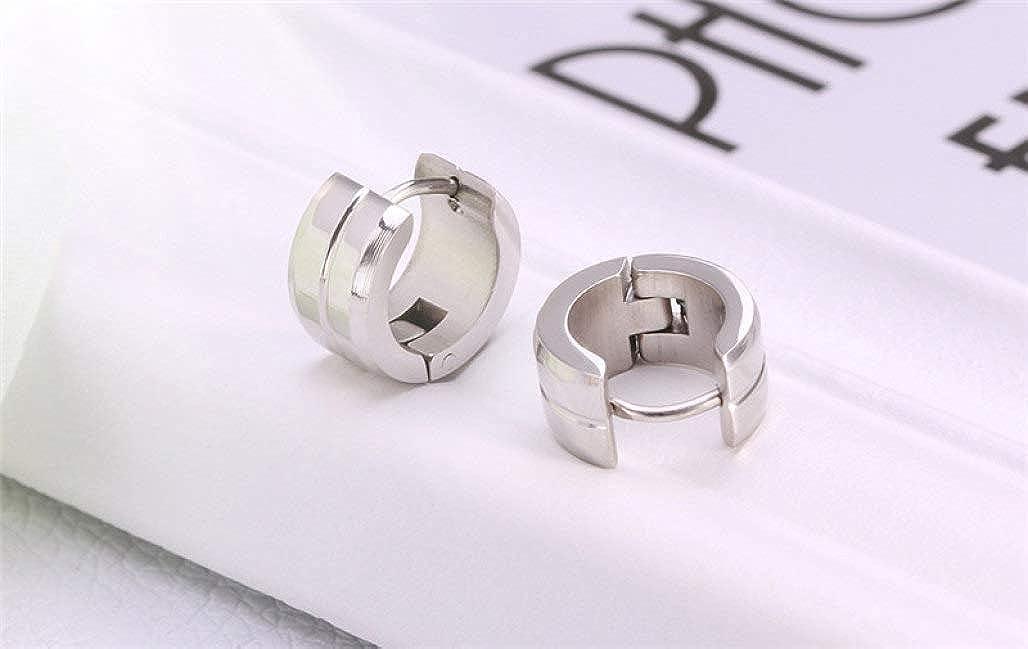 Female Jewelry Party Cute Hoop Earrings Stainless Steel Big Round Earring
