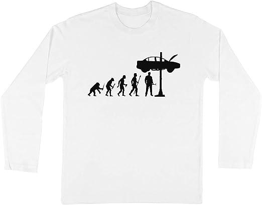 Evolución De Hombre Y Mecánico Niños Chicos Chicas Unisexo Camiseta Manga Larga Blanco: Amazon.es: Ropa y accesorios