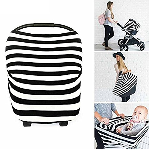 - Premium Breastfeeding Cover - Nursing Cover, Baby Car Seat Cover, Stretchy Stroller Cover, Multi-use Poncho by M&H LIFE