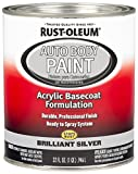 Rust-Oleum 275234 Brilliant Silver Automotive Auto Body Paint - 32 oz. - 2 Pack