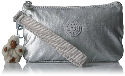 Kipling Rfid Platinum Metallic Creativity with Wristlet Metallic L AASxHr