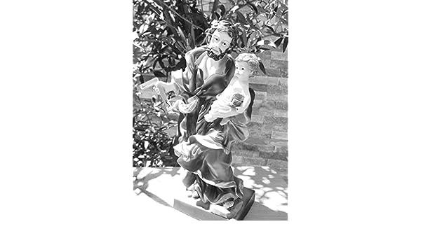 30 - 31 cm Ölbaum - Figura Santo José Premium de Nazaret con zimmerer de ángulo, saca Vater de Jesús con niño de Nazaret, protección Patron de Trabajadores, ...