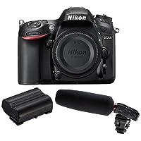 Nikon D7200 DX-format DSLR Camera Body, - Bundle With Nikon EN-EL15 Li-ion Battery Pack, Tascam DR-10SG Camera-Mountable Audio Recorder with Shotgun Microphone