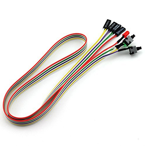 Totot PC Cable de interruptor de alimentación con luz LED funda de ATX delantera botón de alimentación PC Cable de...