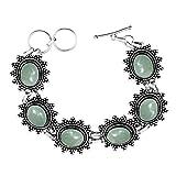 Genuine Gemstone 925 Sterling Silver Overlay Handmade Fashion Bracelet Jewelry