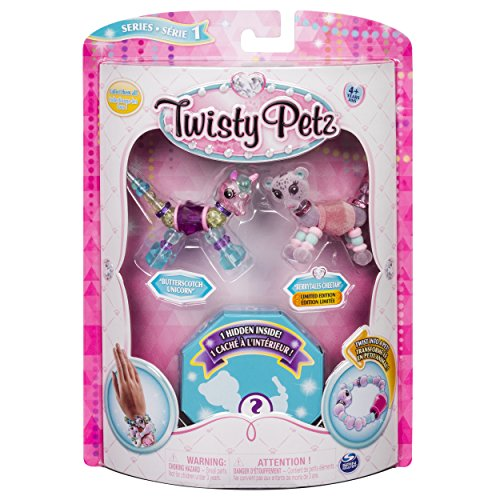 Twist Animal - Twisty Petz Collectible Bracelet Set, Unicorn, Cheetah & Surprise Pet 3-Pack