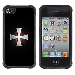Suave TPU GEL Carcasa Funda Silicona Blando Estuche Caso de protección (para) Apple Iphone 4 / 4S / CECELL Phone case / / Nordic Viking Cross Motorcycle Cross /