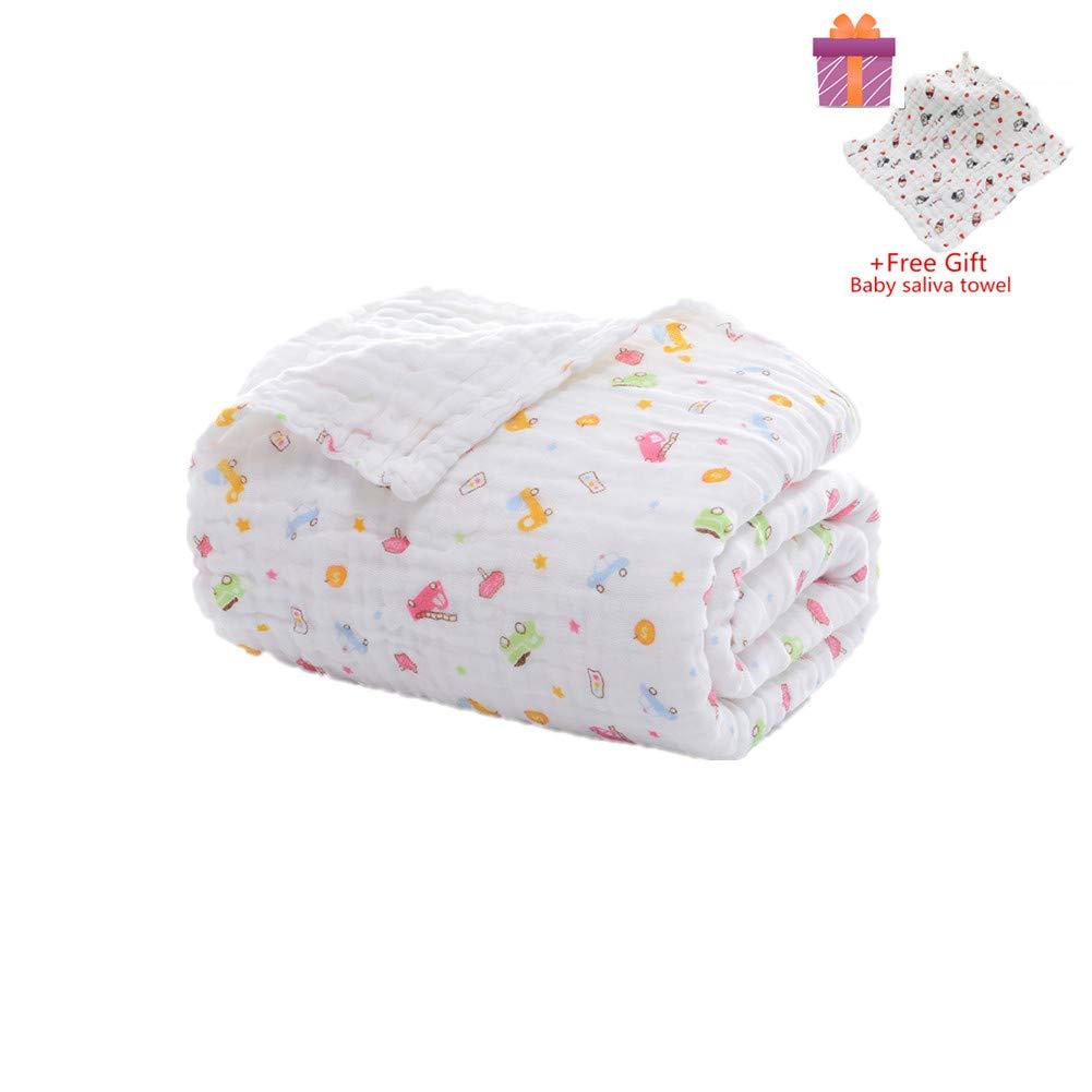 Morbuy Niedlich 105x105cm Weich und Gem/ütlich Neugeboren 100/% Baumwolle 6 Schichten Muslin Absorbent Baby Badetuch Babydecke Musselin Babybadetuch