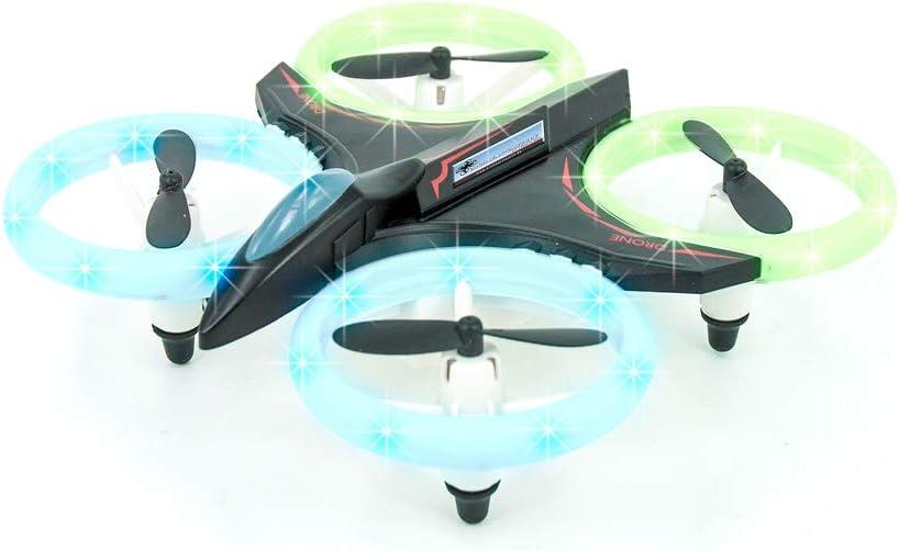DROHNENSTORE24.DE ...DER DROHNEN-GURU DS24 Disco 6 Kanal Quadrocopter 2,4 GHz mit blinkenden LEDs f/ür Kinder und Anf/änger