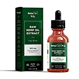 Raw Hemp Oil for Dogs and Cats -Hemp Extract to Reduce Inflammation, Joint Pain, Improve Skin,Coat, Relieve Stress & Anxiety- All Natural Pet Supplement, Health & Immunity Support with Omega 3s(300mg)