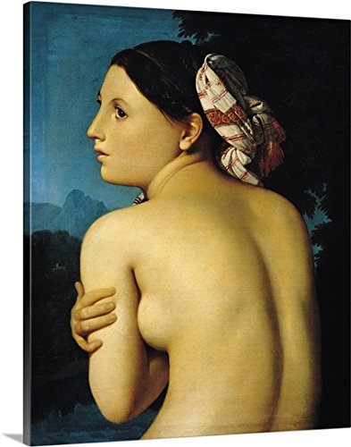 Jean Auguste (1780-1867) Ingres Premium Thick-Wrap Canvas Wall Art Print entitled Female nude, 1807 (oil on canvas)
