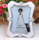 Huhgue Photo Frame Approx.9.7×14.7cm Classic Photo Frame Simple Poster Frame for Home Decoration (Silver)