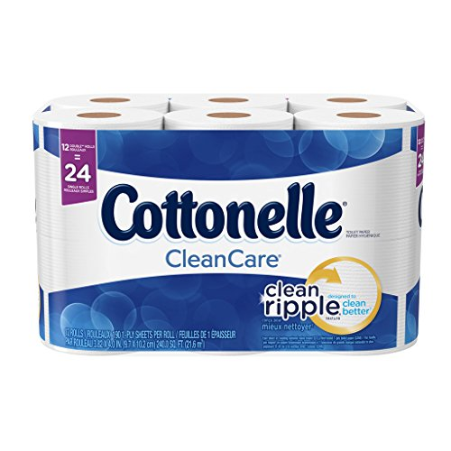 Cottonelle Clean Care Double Roll Toilet Paper, 190 sheets, 12 rolls