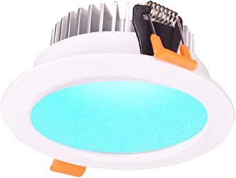 9W, 12W, 15W Smart ZigBee RGBW LED Downlight Kit Light Bulb Working with Echo Plus and Compatible ZigBee Bridge and Hub for Smart Home Automation Google Home Amazon Echo Dot Echo Plus Alexa Voice Control … (12)