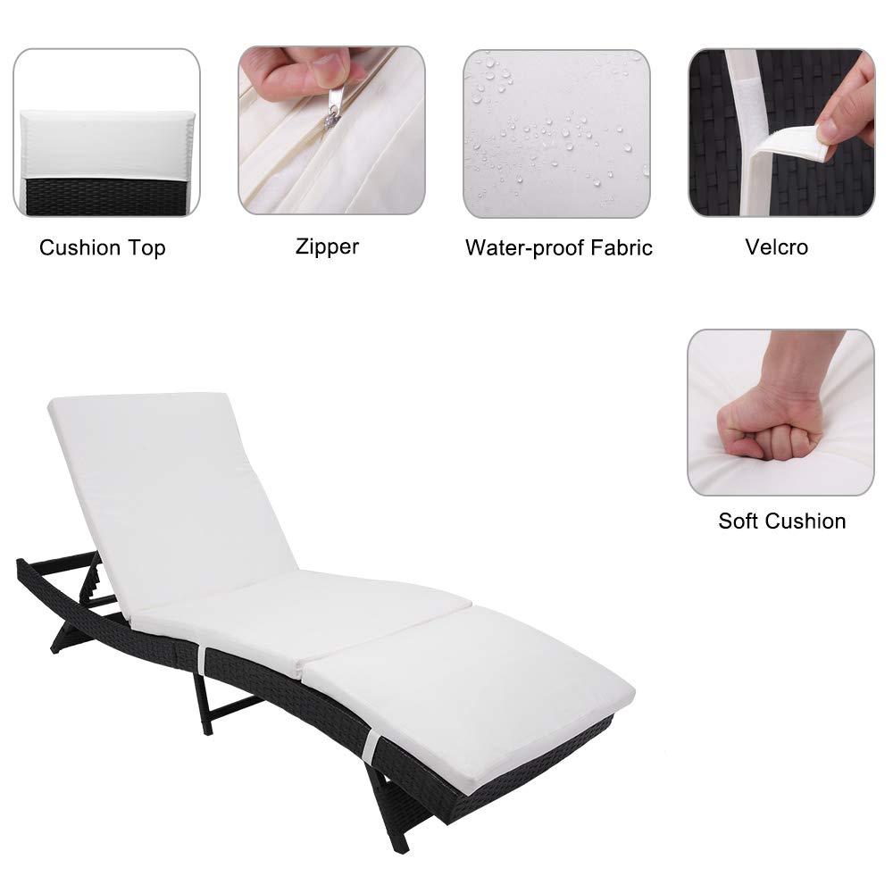 Amazon.com: OCHI - Silla reclinable para patio, estilo S, de ...