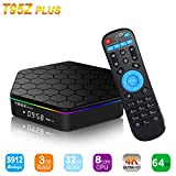 Android TV Box, Amzchen T95Z Plus Android 7.1 Smart TV BOX 2G Ram 16G Amlogic S912 Octa Core Dual WiFi 1000M 3D 4K Media Player Set-Top Box