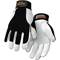 Steiner Ironflex Work Gloves, Advantage, Grain Goatskin, Black Spandex