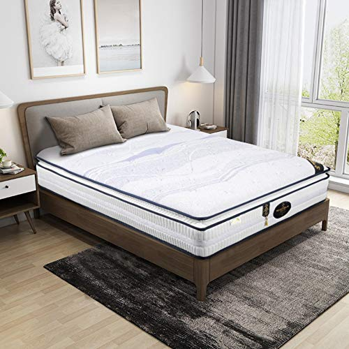 LoveLife Latex Hybrid Coil Spring Hybrid Mattress,pillowtop 25cm Cooling Bed in A Box Pocket Innerspring Mattress Firm But Comfortable Multi-Layer-White 180x200cm(71x79inch)