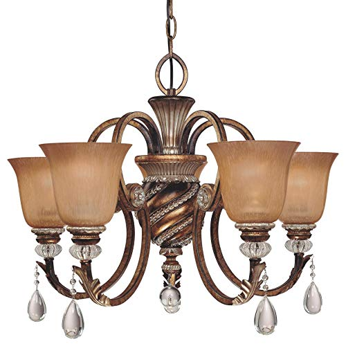 Minka Lavery 174-206 5 Light Chandelier, Aston Court Bronze Finish