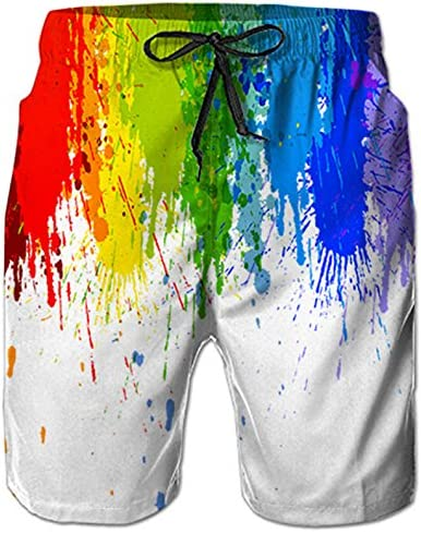 Horizon-t Beach Shorts T-Rex Mens Fashion Quick Dry Beach Shorts Cool Casual Beach Shorts
