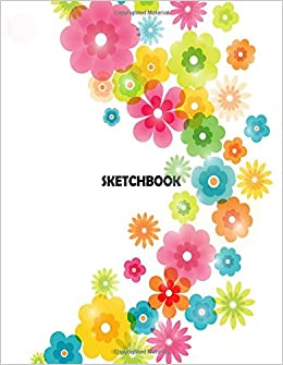 Sketchbook flowers on the white cove blank pages extra large 85 sketchbook flowers on the white cove blank pages extra large 85 x 11 inches 110 pages white paper sketch draw and paint flowers on the cover mightylinksfo