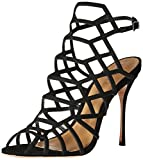 Schutz Women's Juliana Dress Sandal, Black, 7.5 M US