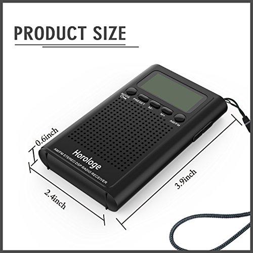 am fm pocket radio portable digital radio alarm clock with earphone jack and supporting. Black Bedroom Furniture Sets. Home Design Ideas
