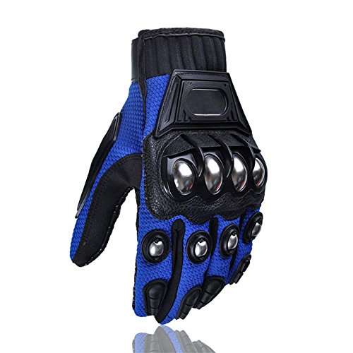 Alloy Steel Bicycle Motorcycle Motorbike Powersports Racing Gloves (Medium)