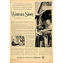 1955 Ad Employers Mutual Insurance Wausau Story Haupt - Original Print Ad