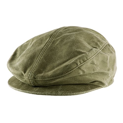 - Morehats Faux Suede Newsboy Cap Irish Hunting Gatsby Cabbie Hat - Olive