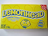 Lemonhead Lemon Candy Theatre Size Box 6 oz. (Pack of 3)