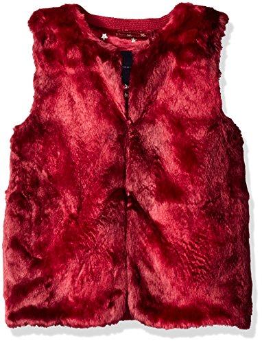 Tommy Hilfiger Big Girls' Faux Fur Vest, Red Berry, Large/12/14]()