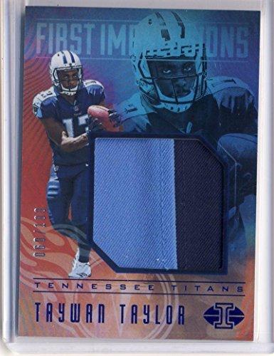 Football NFL 2017 Panini Illusions First Impressions Memorabilia Blue #19 Taywan Taylor NM Near Mint Jersey 60/100 Titans