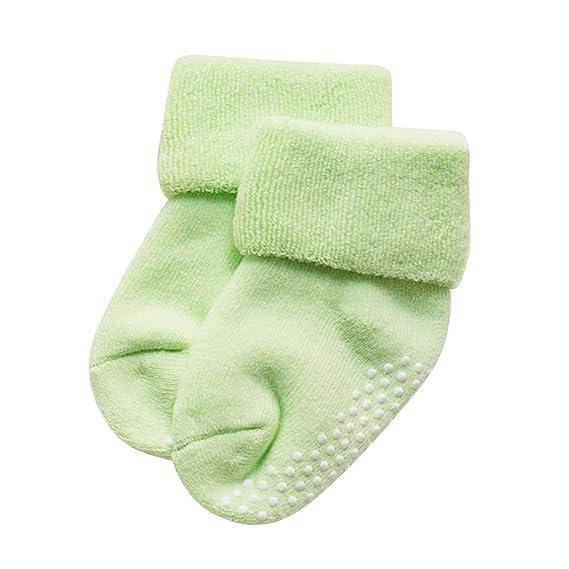 FENICAL Calcetines de bebé para niños y niñas Otoño e invierno Algodón recién nacido Engrosamiento Boca