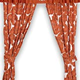Sports Coverage NCAA Texas Longhorns All Over Drape, 82'' x 84'', Dark Orange