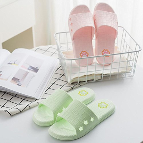 Slippers Outdoor Women amp; Flat Indoor Summer Beige Bath Lattice hunpta Slippers Sandals wzIxqAA