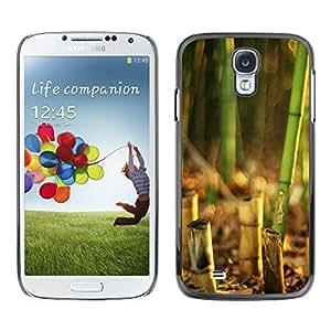 TopCaseStore / la caja del caucho duro de la cubierta de protección de la piel - Bamboo Plant - Samsung Galaxy S4 I9500