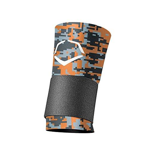 EvoShield MLB Wrist with Strap Digital Camouflage, Orange/Black, Medium