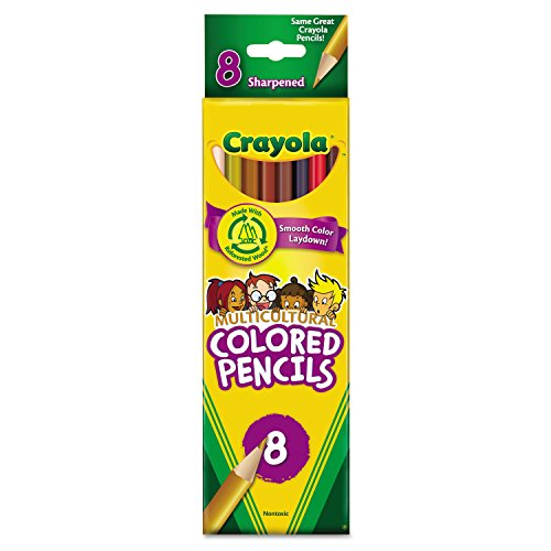 Crayola Multicultural Woodcase Pencils Assorted