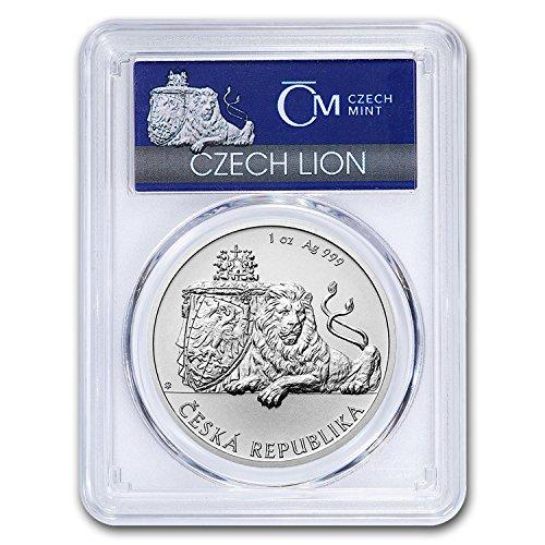 2017 CZ Niue 1 oz Silver Czech Lion MS-70 PCGS (First Strike) 1 OZ MS-70 (Silver Czech Coin)