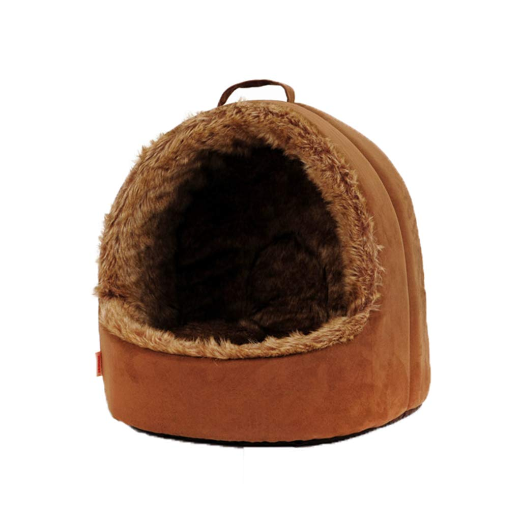 Brown 3838cm Brown 3838cm D_HOME Kennel, Cat Litter Yurt, Cat House, Pet Bed, Pet House, Pet House Dog House, Cat Litter, Four Seasons Universal, (brown) (color   Brown, Size   38  38cm)